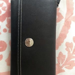 Black coach wallet. Used. With checkbook cover.